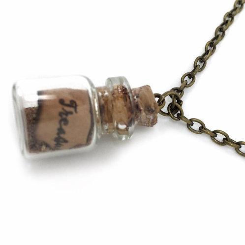 Mini Bottle Pirate Treasure Necklace