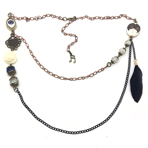 Theatrical Masquerade Quirky Necklace