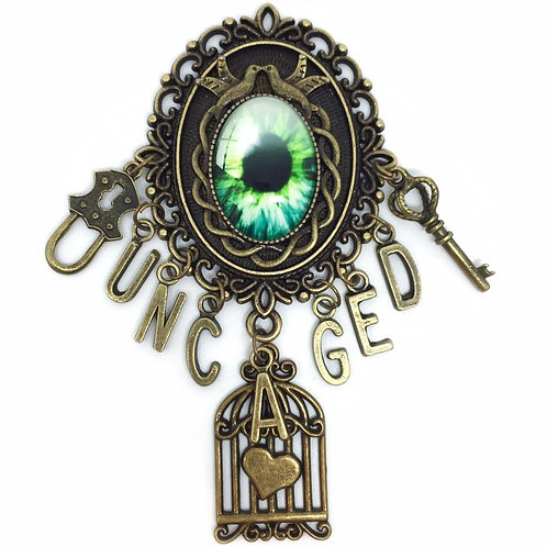 """Uncaged"" Vintage Birdcage Charm Brooch"