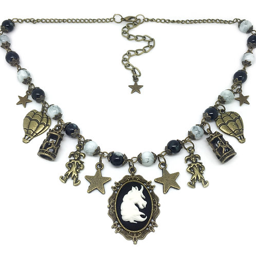 Magical Fairground Unicorn Carousel Necklace