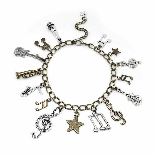 Rock Star Music Charm Bracelet