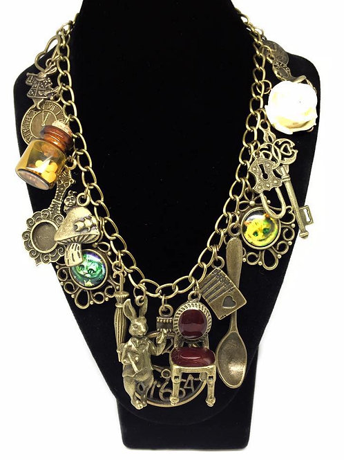 Alice In Wonderland Irregular Charm Necklace