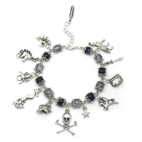 Horror Fantasy Medieval Gothic Charm Bracelet