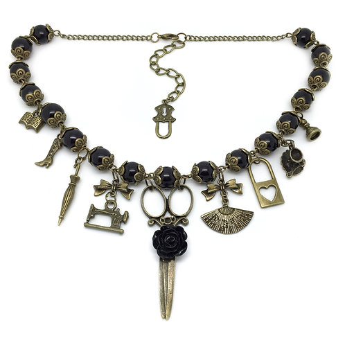 Gothic Victorian Lady Charm Necklace