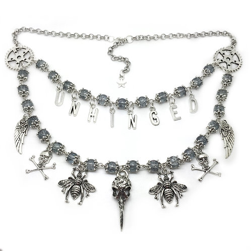 'Unhinged' Steampunk Statement Necklace