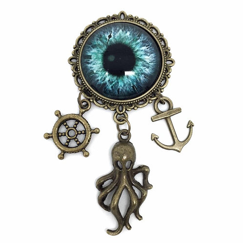 Kraken Eye Pirate Charm Brooch