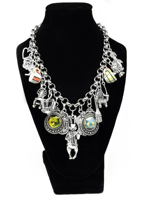 Quirky Alice In Wonderland Charm Necklace
