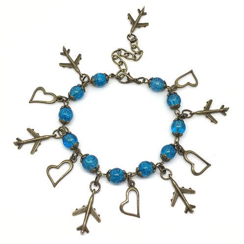 Sky Blue Aeroplane Traveller Bracelet