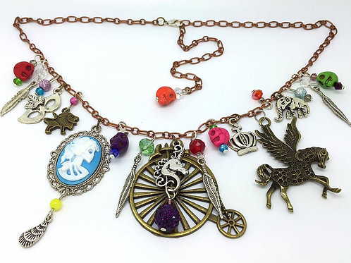 Day of the Dead Carnival Charm Necklace