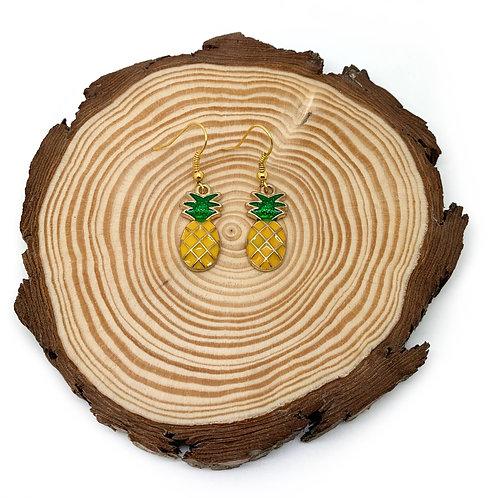 Pineapple Gold Drop Earrings
