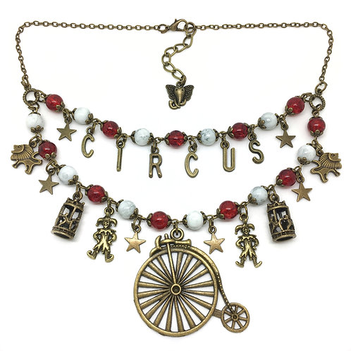 Big Top Retro Circus Themed Statement Necklace