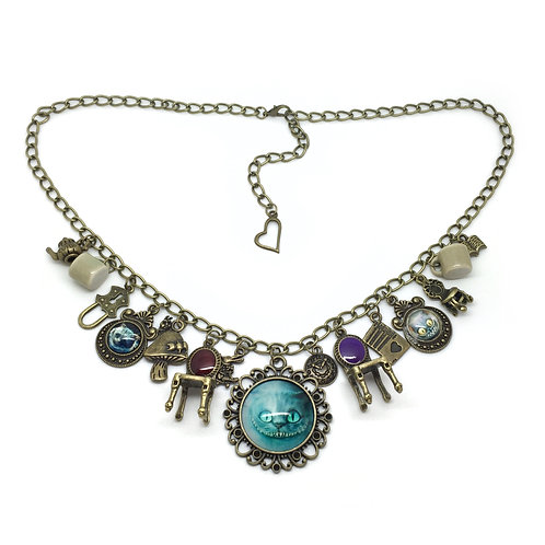 Cheshire Cat Multi Charm Wonderland Necklace