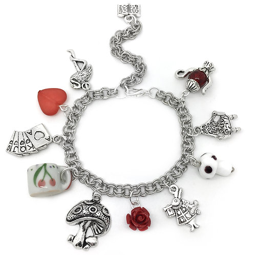 Alice in Wonderland Charm Bracelet