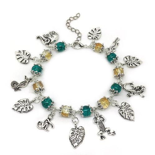 Colourful Jungle Charm Bracelet
