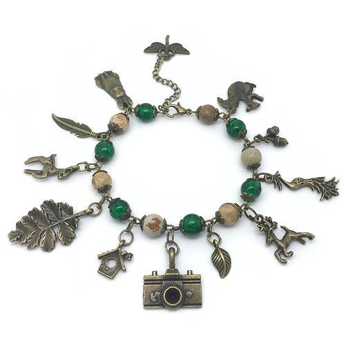 Nature Photographer Animal Charm Bracelet