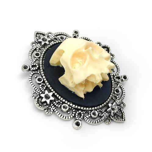 Large 3D Skull Brooch
