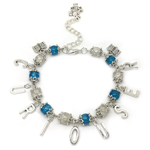 Curiouser Quote Alice In Wonderland Bracelet