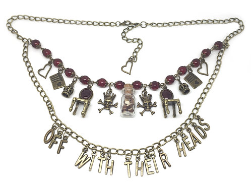 Queen of Hearts Wonderland Quote Necklace