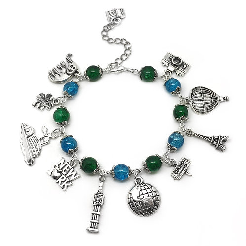 Around The World Traveller's Charm Bracelet