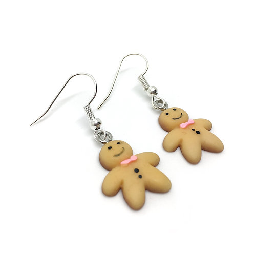 Mini Gingerbread Man Earrings