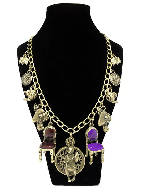The Mad Hatter's Tea Party Statement Necklace