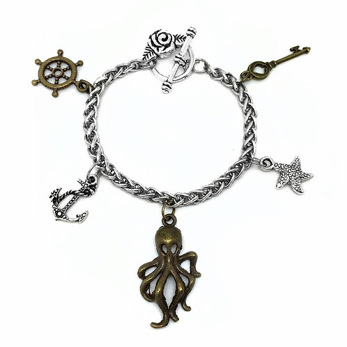 Pirate Charm Toggle Bracelet