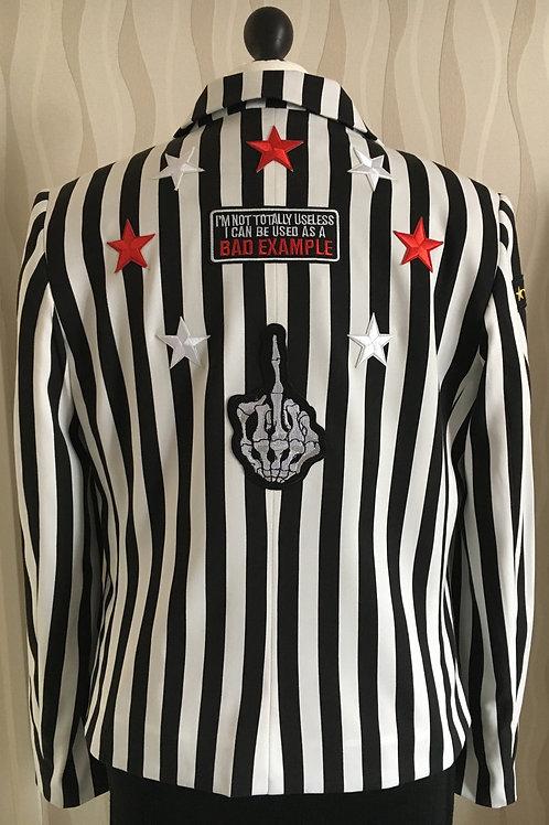 Striped Star Patch Attitude Jacket