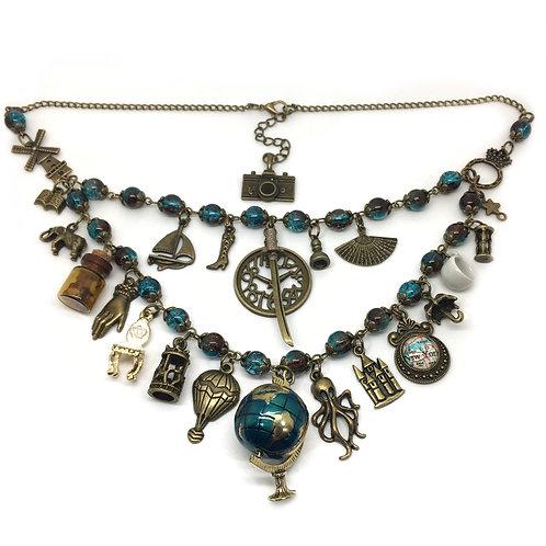 Around The World Steampunk Necklace