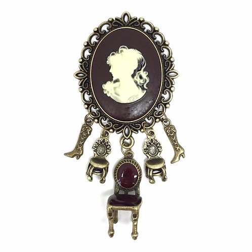 """""""In The Drawing Room"""" Victorian Brooch"""