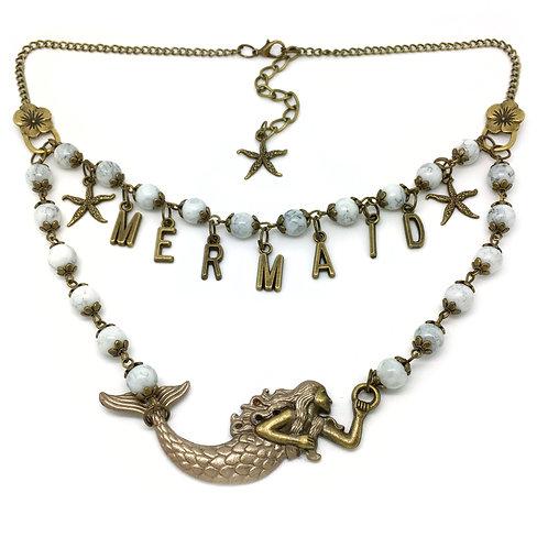 Boho Mermaid Statement Necklace
