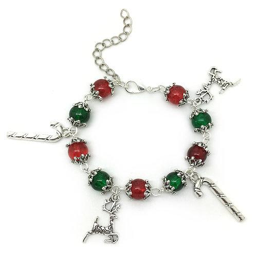 Children's Christmas Reindeer Charm Bracelet