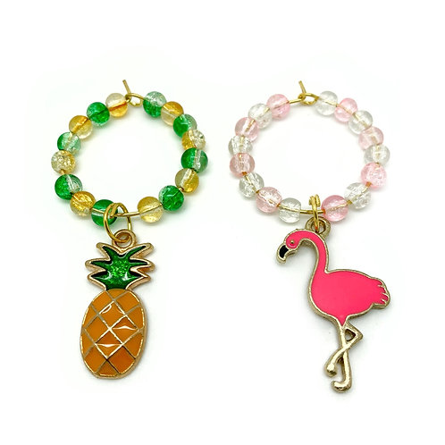 Pair of Summer Wine Glass Charms