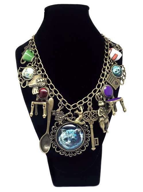 Quirky Alice in Wonderland Statement Necklace
