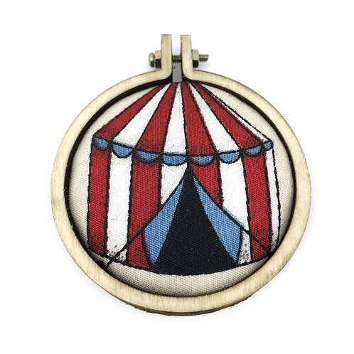 Circus Tent Carnival Fabric Necklace