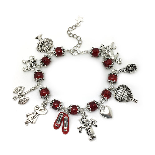 Ruby Red Wizard of Oz Charm Bracelet