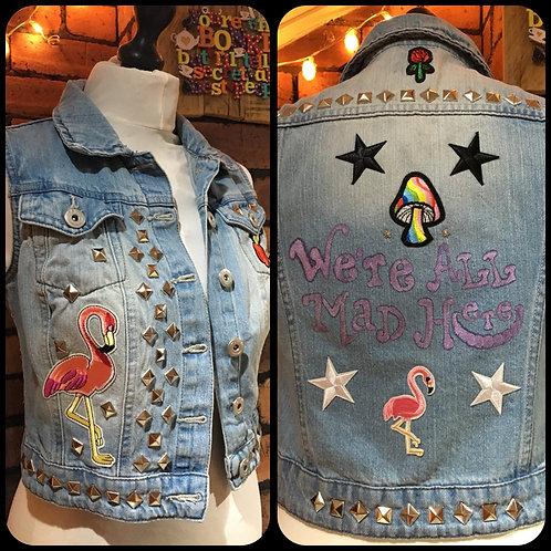 Alice In Wonderland Custom Denim Jacket