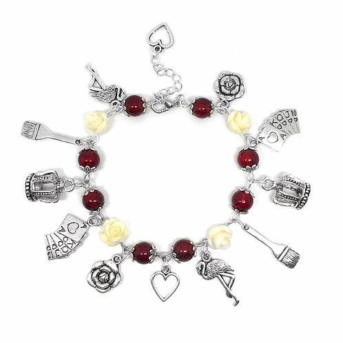 The Queen of Hearts' Garden Bracelet