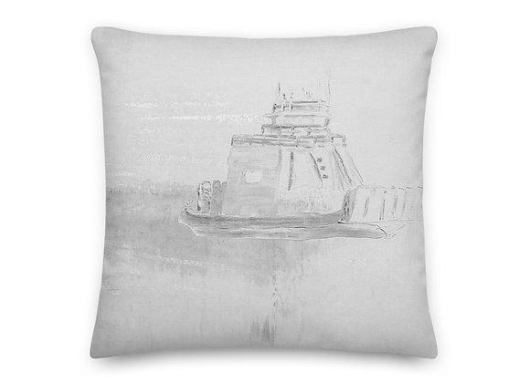 White Drummond Island Ferry Pillow