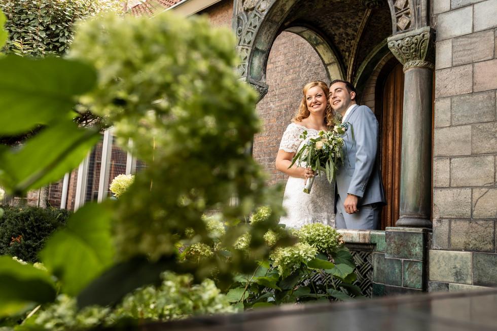 Bruiloft foto van Roy & Elise tijdens de fotoshoot