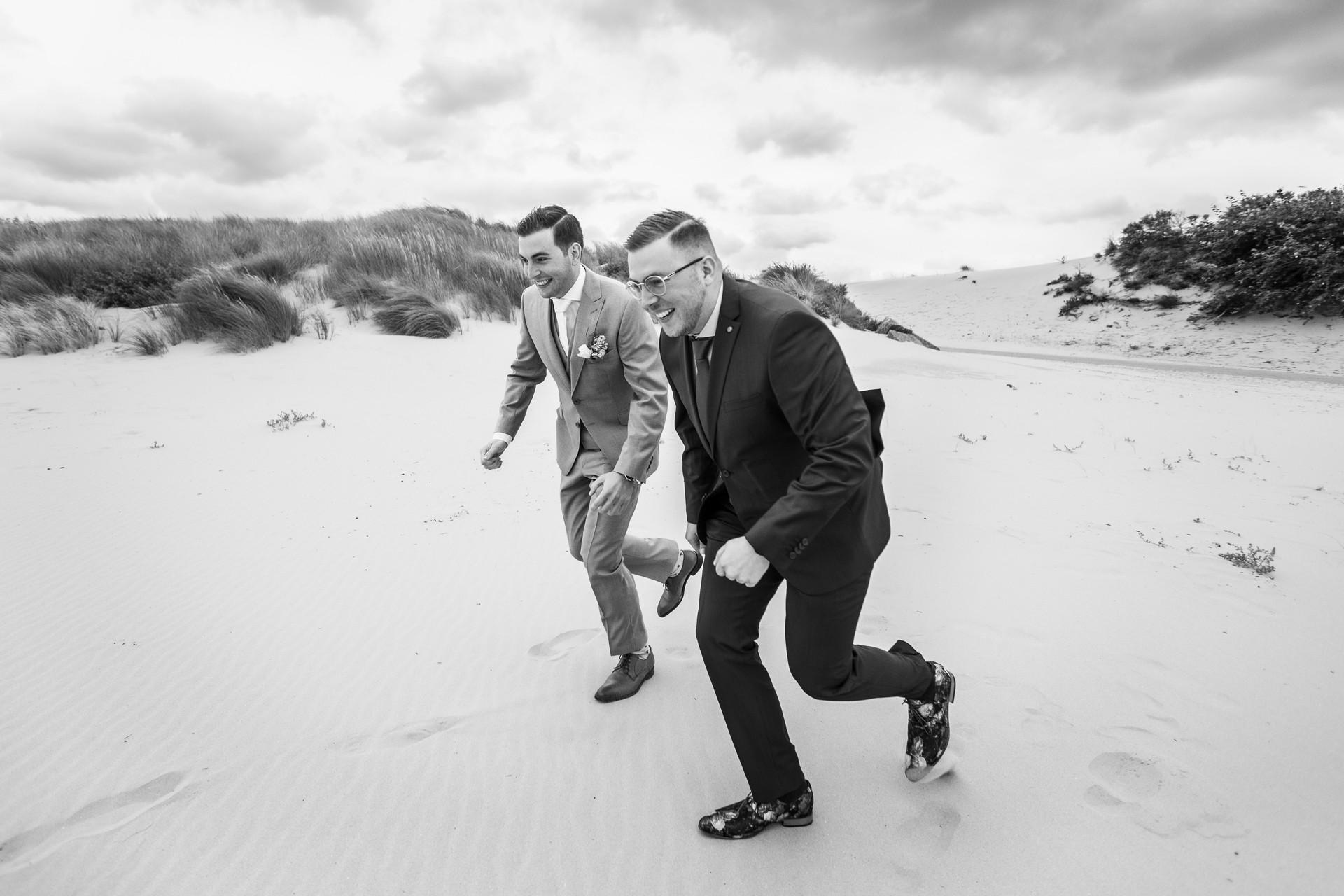 Bruiloft foto uitdagende broers