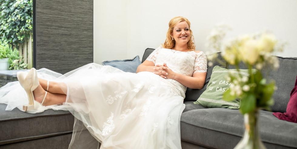 Bruidsfoto van de bruid Elise