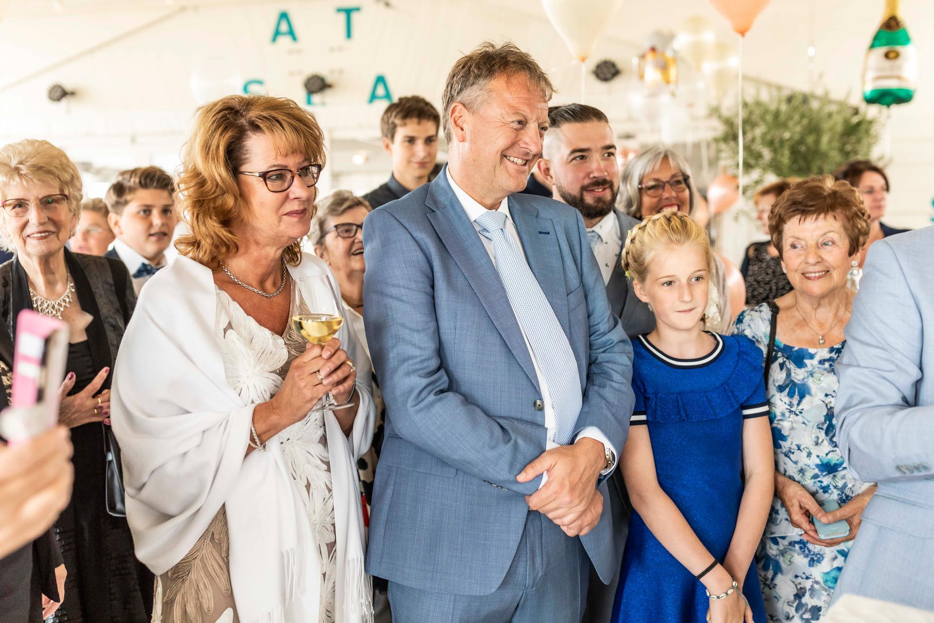 Bruiloft foto familie en vrienden