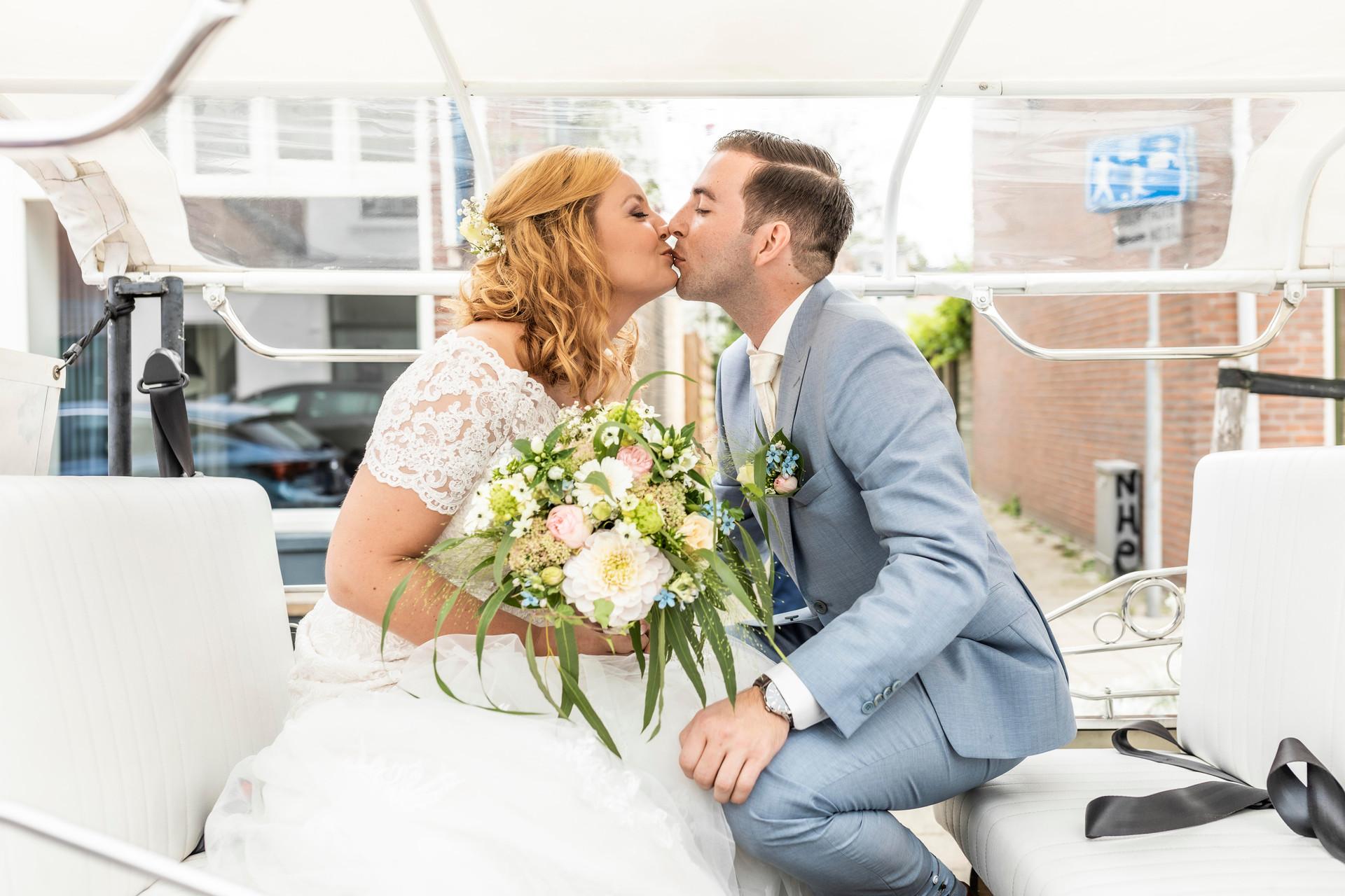 Bruidsfoto van het bruidspaar