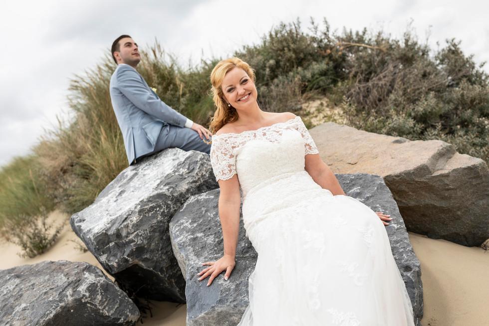 Bruiloft foto van de fotoshoot