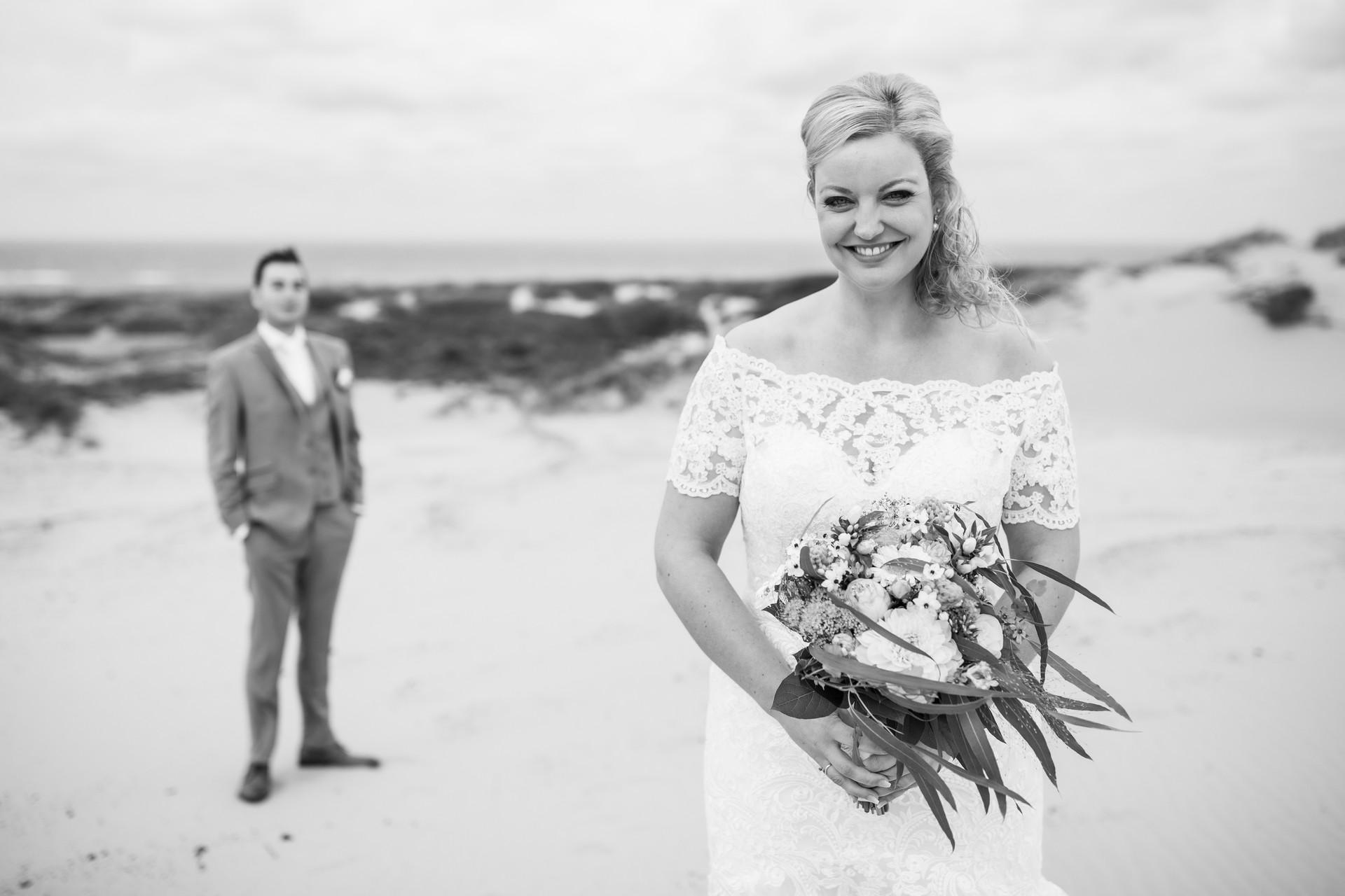 Bruiloft foto van Roy en Elise tijdens de fotoshoot