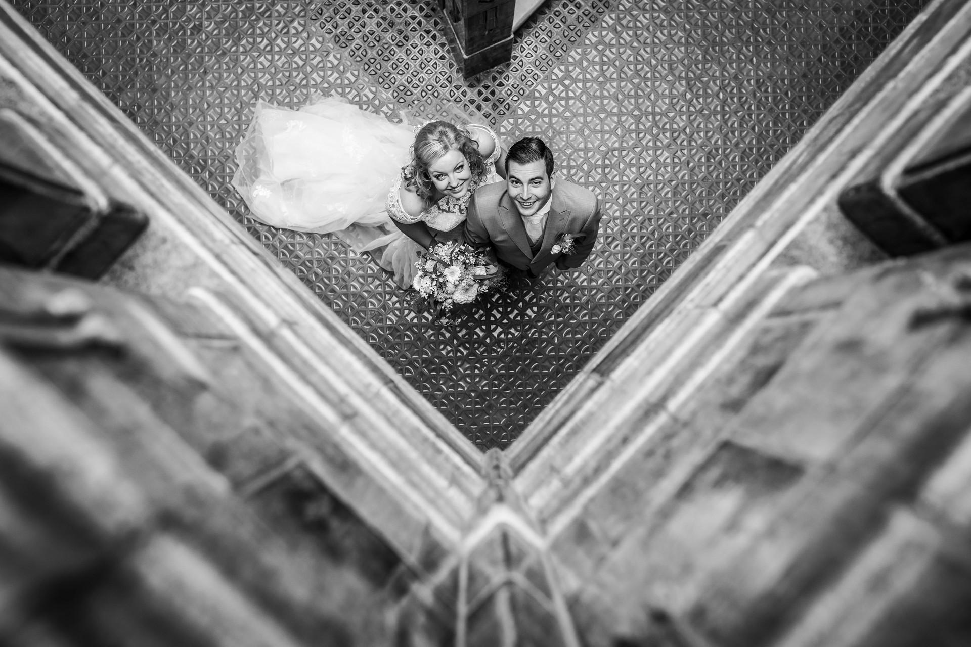 Trouwfoto van de fotoshoot van Roy & Elise