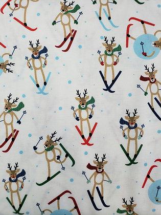 Jolly Season Reindeer fabric by the yard