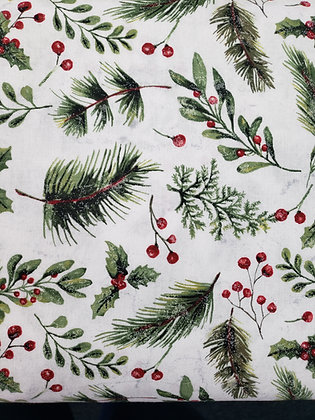 Holly Jolly White Pine fabric by the yard