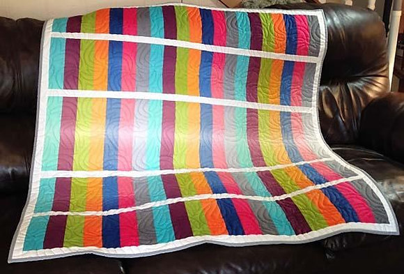 Zippy Strippy Play Quilt