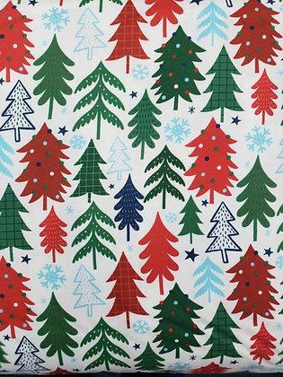 Jolly Season Trees fabric by the yard